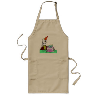 Skeletons 50th Birthday Gifts Long Apron