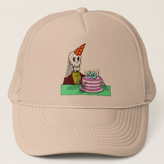 Skeletons 50th Birthday Gifts Trucker Hat