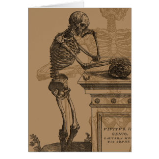 Skeletons and Death Stationery Note Card