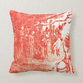 Skeletons And Knights Myth Pillow Cushion