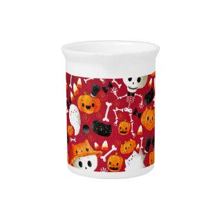 Skeletons and Pumpkins Pattern Beverage Pitchers