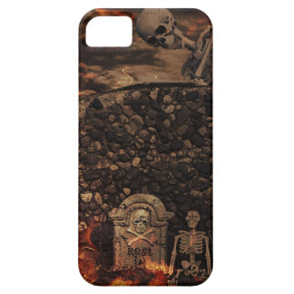 skeletons and tombstones iPhone SE/5/5s case