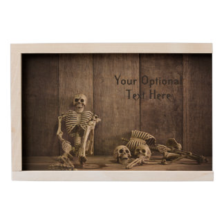 Skeletons custom text keepsake box
