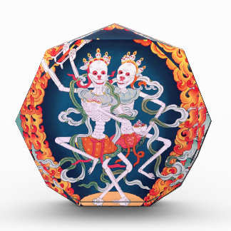 Skeletons Dancing Tibetan Buddhist Art Acrylic Award