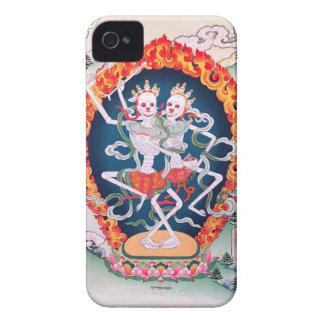 Skeletons Dancing Tibetan Buddhist Art iPhone 4 Case-Mate Case