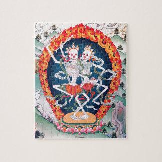 Skeletons Dancing Tibetan Buddhist Art Jigsaw Puzzle