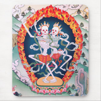 Skeletons Dancing Tibetan Buddhist Art Mousepad