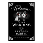 Skeletons Elegant Black & White Welcome to Wedding Poster