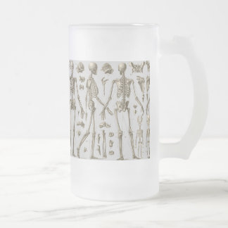 Skeletons from the Brockhaus & Efron Encyclopedia Frosted Glass Beer Mug