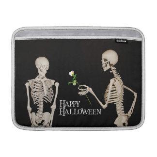 Skeletons Funny Romantic Happy Halloween Sleeve For MacBook Air