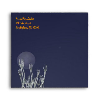 Skeletons - Halloween Envelope