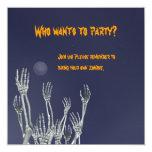 "Skeletons - Halloween Party Invitation 5.25"" Square Invitation Card"