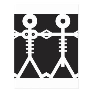 Skeletons Icon Art Postcard