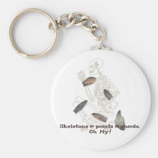 Skeletons, Points, & Sherds, Oh My! Keychain