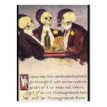 Skeletons Postcard