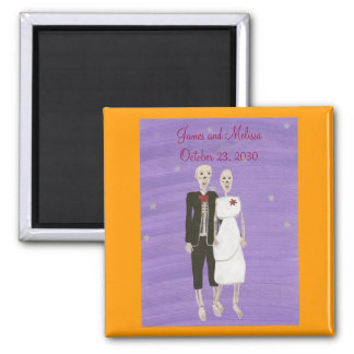 Skeletons Save the date Wedding Magnets
