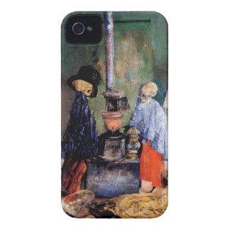 Skeletons Warming Themselves iPhone 4 Cover
