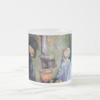 Skeletons Warming Themselves Frosted Glass Coffee Mug