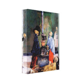 Skeletons Warming Themselves Gallery Wrap Canvas