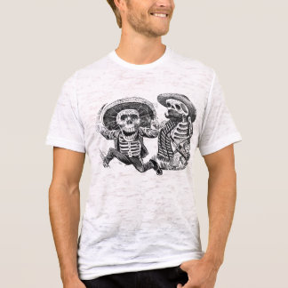 Skeletons with machete and booze T-Shirt