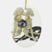 SkeletonsChokedByEngagementRing070515 Ceramic Ornament