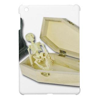 SkeletonSittingCoffinHeadstone070315 iPad Mini Case