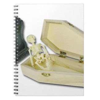 SkeletonSittingCoffinHeadstone070315 Notebook
