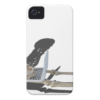 SkeletonWithLaptop032215 iPhone 4 Case-Mate Case