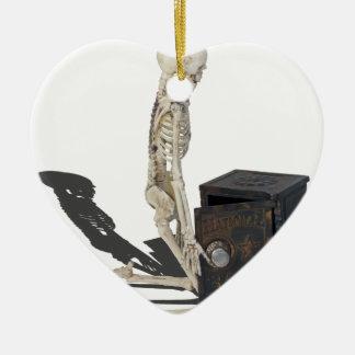 SkeletonWithSafe032215 Ceramic Ornament