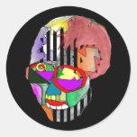 Skeletor Pegatina Redonda