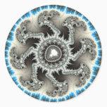 Skelewheel - Fractal Art Classic Round Sticker