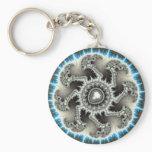 Skelewheel - Fractal Art Keychain