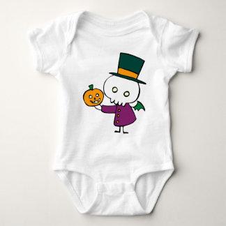 Skellie with Pumpkin Baby Bodysuit