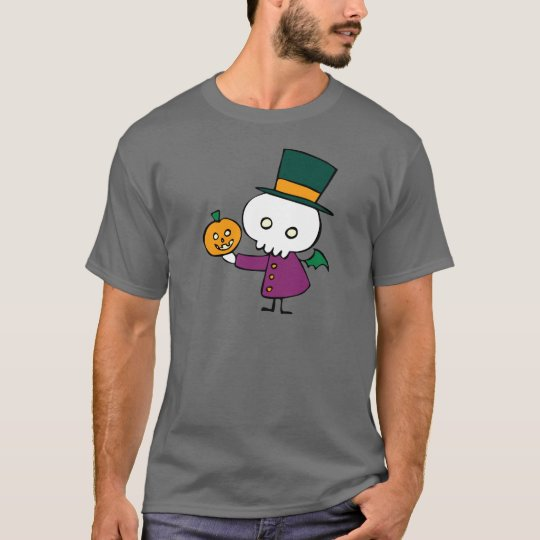 Skellie with Pumpkin T-Shirt