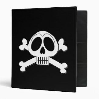 Skelly Basic Cute Skull and Crossbones Binder