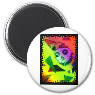 Skelly Boy Squared 2 Inch Round Magnet