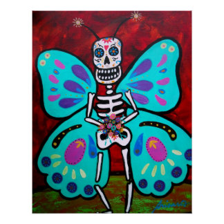 SKELLY BUTTERFLY POSTER