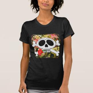 Skelly Claude Monet Cute Skull and Crossbones T-Shirt