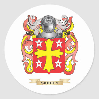 Skelly Coat of Arms (Family Crest) Round Stickers
