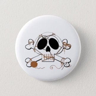 Skelly Stitched Button