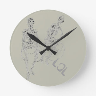 Skeltie Skeletons LOL Decor Comic Fun Clock Funny