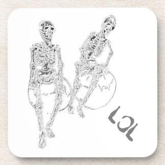 Skeltie Skeletons LOL Laughter Humor Funny Coaster