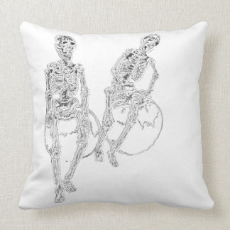 Skeltie Skeletons LOL Laughter Humor Funny Decor Throw Pillow