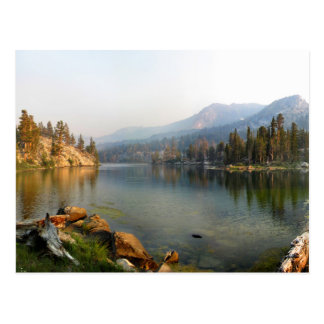 Skelton Lake at Golden Dusk - Mammoth Lakes Basin Postcard