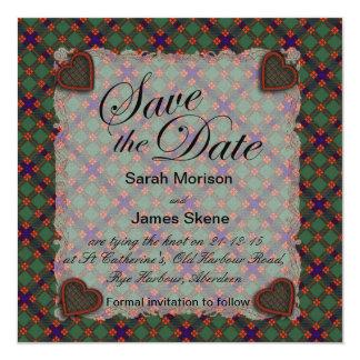 Skene Scottish clan tartan - Plaid Card