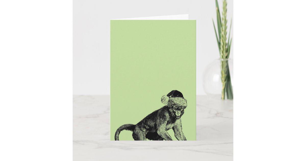 Skeptic Monkey Atheist Christmas Card | Zazzle.com