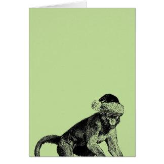 Skeptic Monkey Atheist Christmas Card