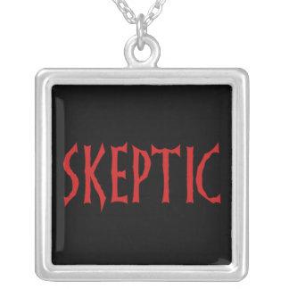 Skeptic Square Pendant Necklace