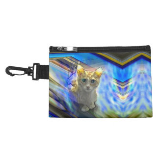 Skeptical Cat Clip On Accessory Bag