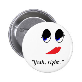Skeptical Face 2 Inch Round Button